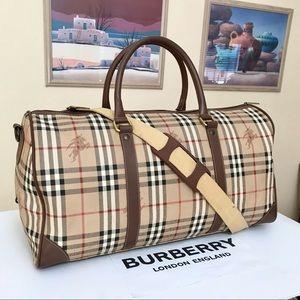 Burberry Nova Check 50cm 2 way Duffel Bag 💼